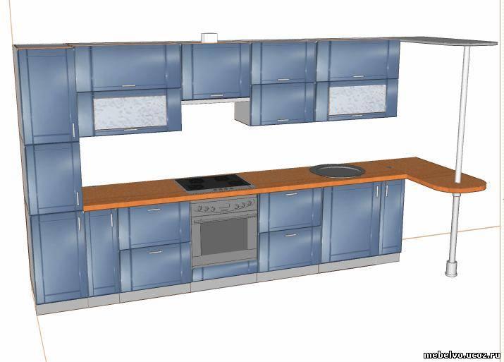 Дизайн кухни 3 на 4 метра для частного дома